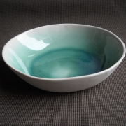 Turquoise deep bowl