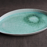 Turquoise large tray