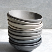 Small grey bowls