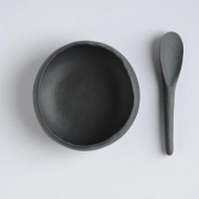 Bowl and spoon for jam